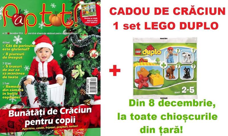 Cadou set Lego Duplo, impreuna cu revista PAP TOT! de Decembrie 2014 ~~ Pret pachet: 6 lei