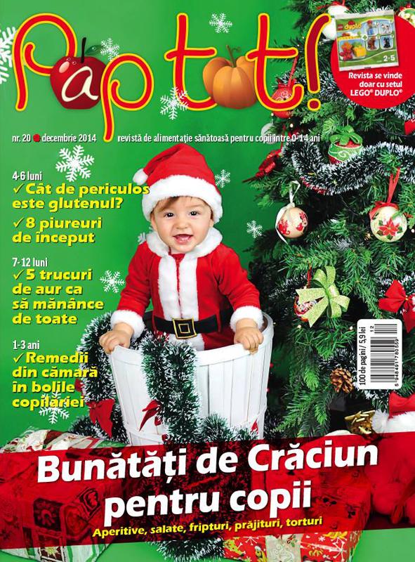 Revista PAP TOT! ~~ Bunatati de Craciun pentru copii ~~ Decembrie 2014 ~~ Pret: 6 lei