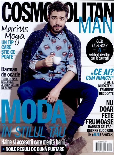 Cosmopolitan MAN ~~ Coperta: Marius Moga ~~ Editia 2014 ~~ Pret: 10 lei