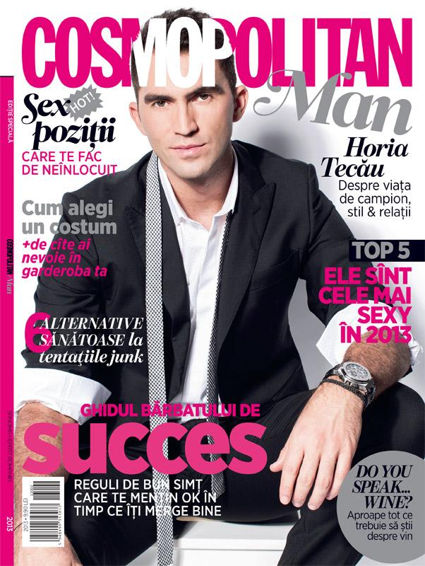 Cosmopolitan MAN ~~ Coperta: Horia Tecau ~~ Toamna-Iarna 2013-2014 ~~ Pret: 10 lei