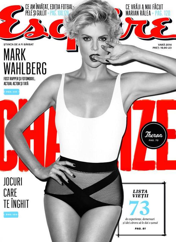 Esquire Romania ~~ Coperta: Charliza Theron ~~ Iunie-Iulie-August 2014 ~~ Pret: 15 lei