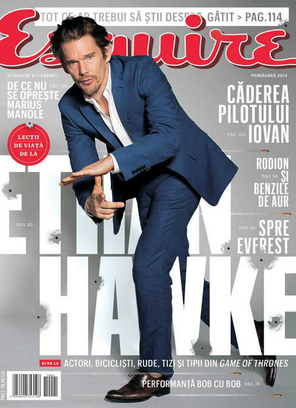 Esquire Romania ~~ Coperta: Ethan Hawke ~~ Martie-Aprilie-Mai 2014
