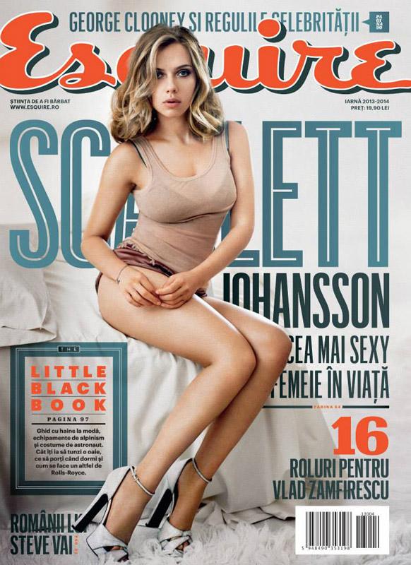 Esquire Romania ~~ Coperta: Scarlett Johansson ~~ Iarna 2013-2014 ~~ Pret: 20 lei
