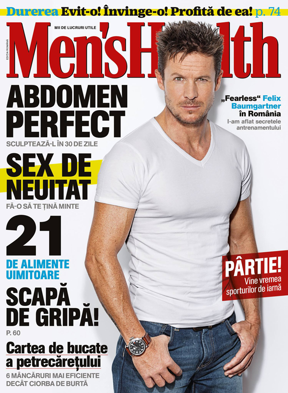 Men\'s Health Romania ~` Coperta: Felix Baumgartner ~~ Decembrie 2014