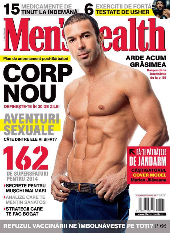Men\'s Health ~~ Coperta: Marian Jilaveanu ~~ Ianuarie-Februarie 2014