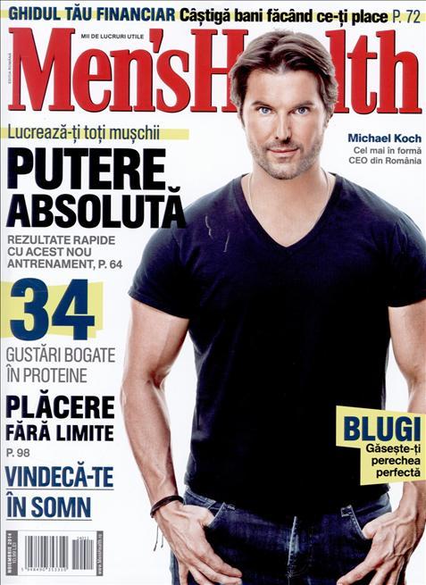 Men\'s Health Romania ~~ Coperta: Michael Koch ~~ Noiembrie 2014 ~~ Pret: 11 lei