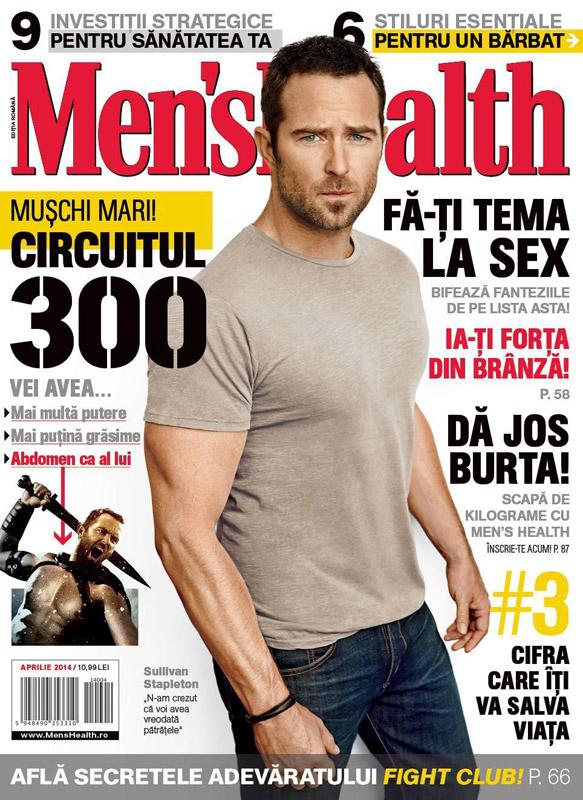 Men\'s Health Romania ~~ Coperta: Sullivan Stapleton ~~ Aprilie 2014