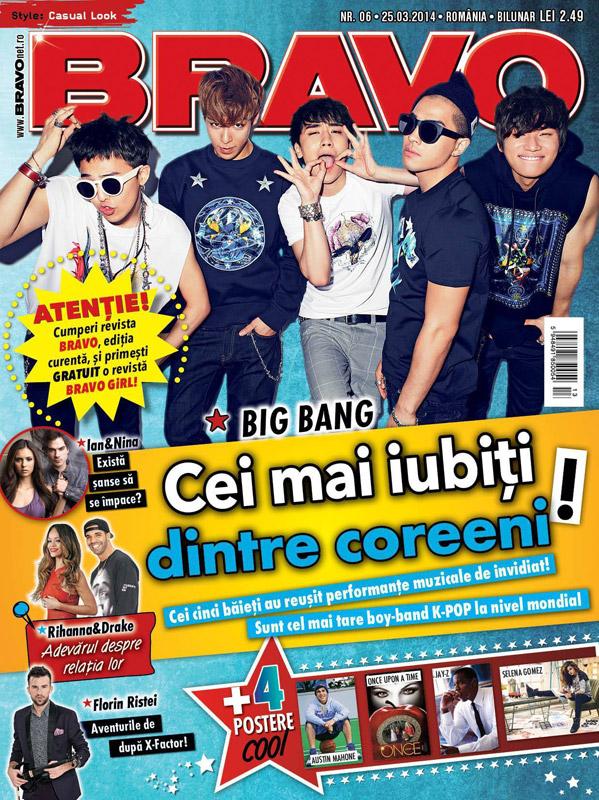 BRAVO Romania ~~ Coperta: Big Bang ~~ 25 Martie 2014