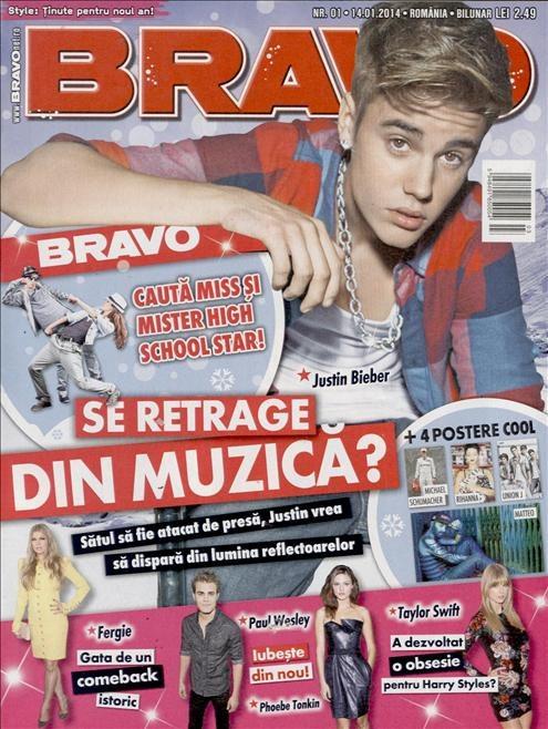 BRAVO ~~ Coperta: Justin Bieber ~~ 14 Ianuarie 2014