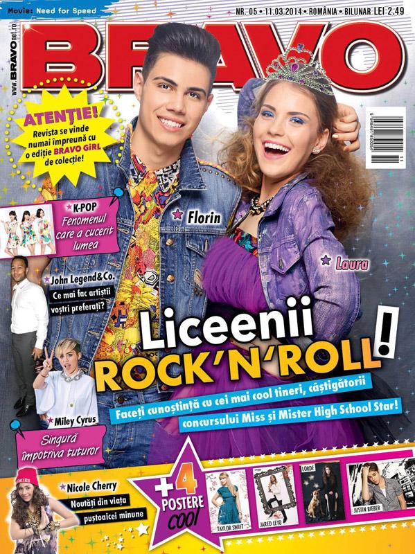 BRAVO ~~ Florin si Laura, Mister si Miss High School Star ~~ Cadou: O revista BRAVO GIRL! ~~ 11 Martie 2014
