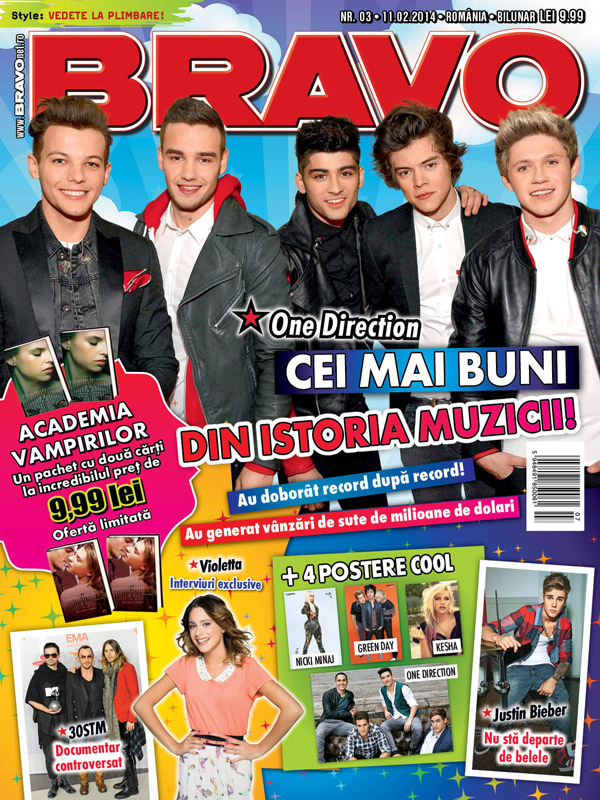 BRAVO! ~~ Coperta: One Direction ~~ 11 Februarie 2014