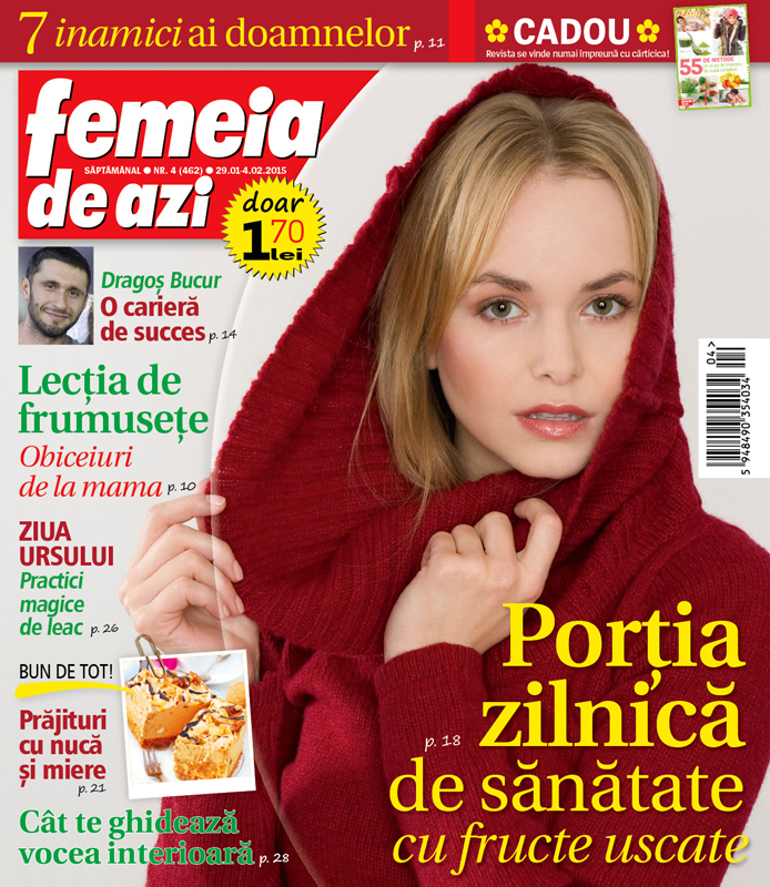 Femeia de azi ~~ Portia zilnica de sanatate cu fructe uscate ~~ 29 Ianuarie 2015 ~~ Pret: 1,70 lei