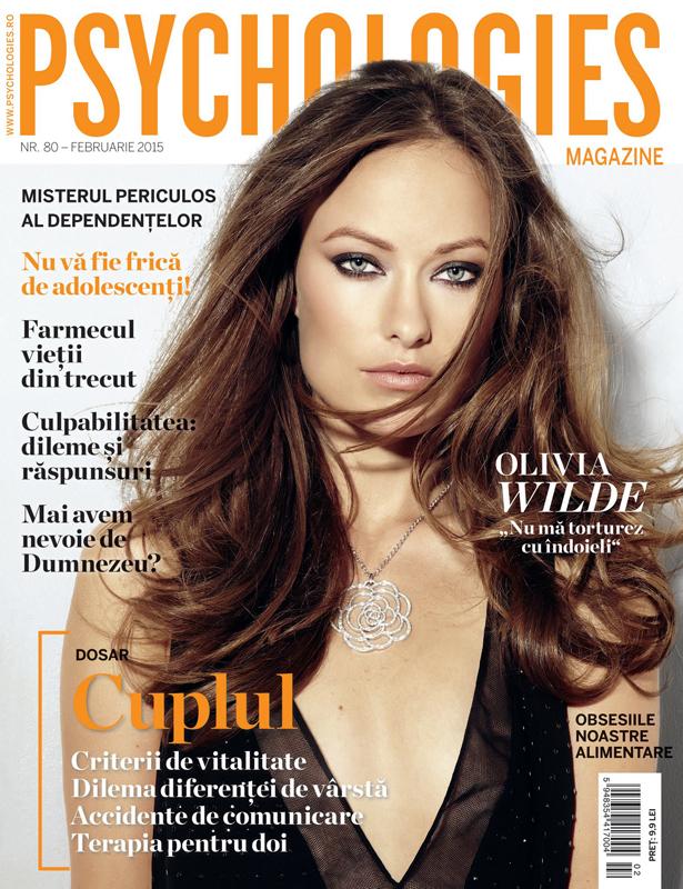 Psychologies Romania ~~ Coperta: Olivia Wilde ~~ Februarie 2015