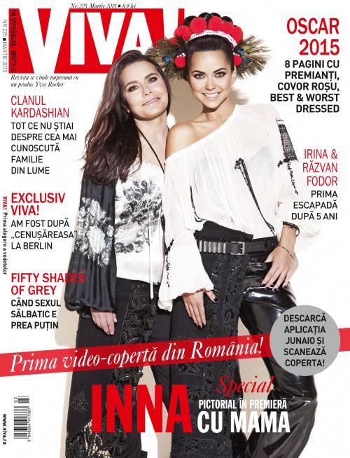 Revista VIVA! ~~ Coperta: Inna si mama ei ~~ Premiera: Prima video-coperta din Romania ~~ Martie 2015