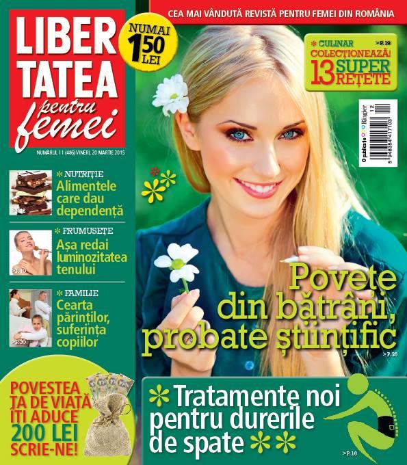 Libertatea pentru femei ~~ Alimentele care dau dependenta ~~ 20 Martie 2015 ~~ Pret: 1,50 lei