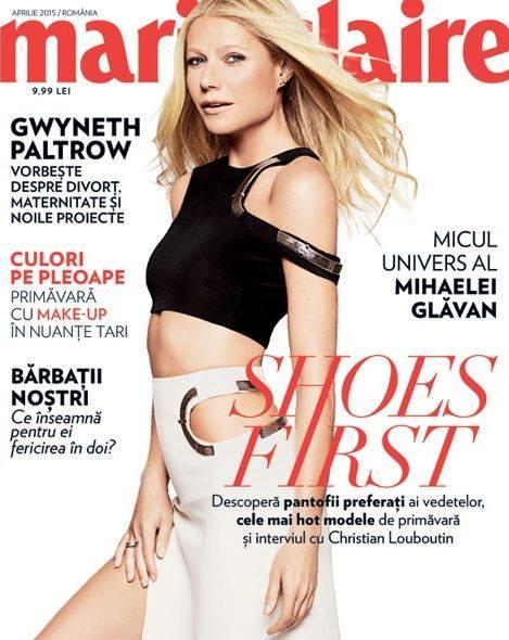 Marie Claire Romania ~~ Coperta: Gwyneth Paltrow ~~ Aprilie 2015