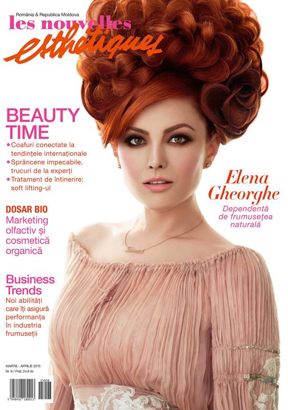 Les Nouvelles Esthetiques Romania ~~ Coperta: Elena Gheorghe ~~ Martie-Aprilie 2015 ~~ Pret: 25 lei