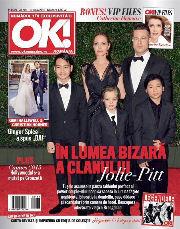 OK! Magazine Romania ~~ In lumea bizara a clanului Jolie-Pitt ~~ 28 Mai 2015 ~~ Pret: 5 lei