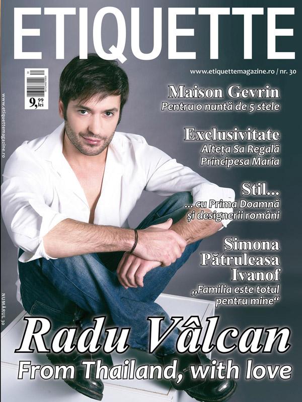 Etiquette Magazine ~~ Coperta: Radu Valcan ~~ Iunie 2015