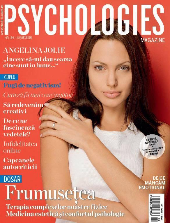 Psychologies Romania ~~ Coperta: Angelina Jolie ~~ Iunie 2015
