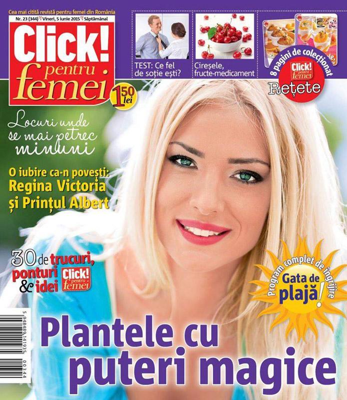 Click pentru femei ~~ Plantele cu puteri magice ~~ 5 Iunie 2015 ~~ Pret: 1,50 lei