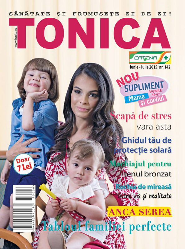 Tonica ~~ Coperta: Anca Serea ~~ Iunie 2015 ~~ Pret: 7 lei