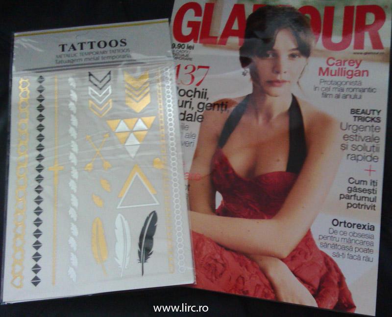Glamour Romania si tatuajele temporare ~~ Iulie 2015 ~~ Pret pachet: 10 lei