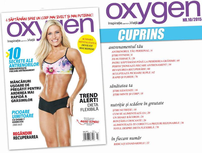 Oxygen Magazine Romania ~~ Coperta: Ingrid Romero ~~ Iulie-August 2015