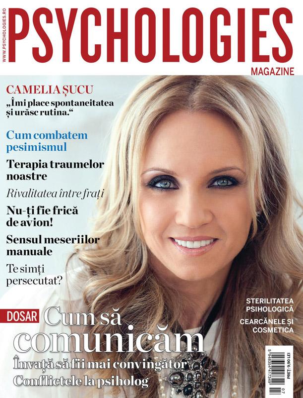 Psychologies Magazine Romania ~~ Coperta: Camelia Sucu ~~ Iulie 2015