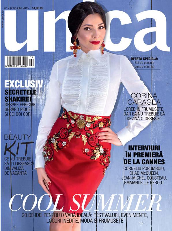 Revista UNICA ~~ Coperta: Corina Caragea ~~ Iulie 2015