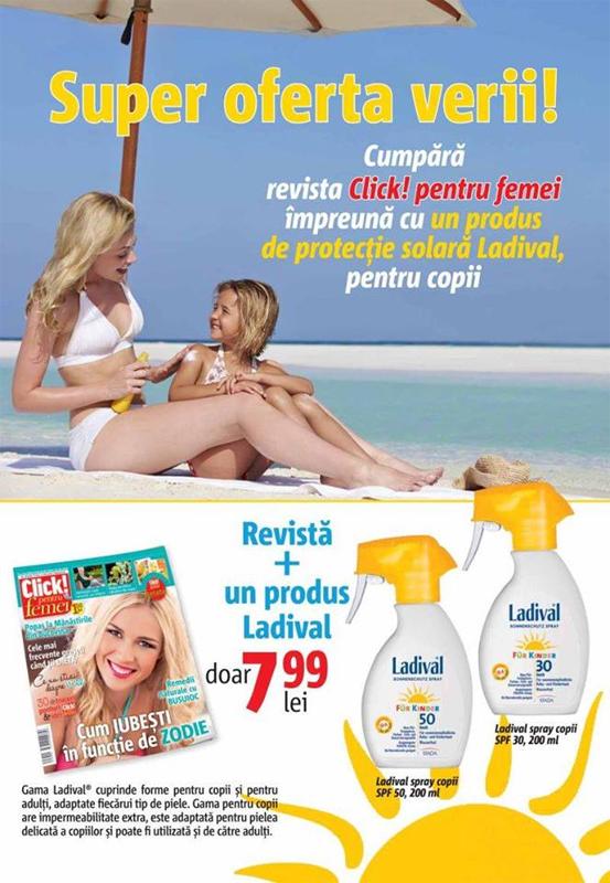 Promo pentru cadoul LADIVAL oferit de Click pentru femei in 17 Iulie 2015 ~~ Pret pachet: 8 lei