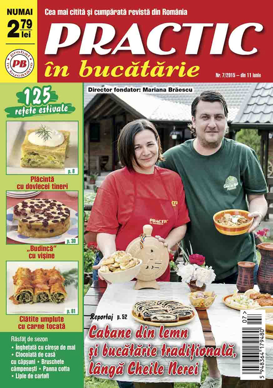 Practic in bucatarie ~~ Cabane din lemn si bucatarie traditionala langa Cheile Nerei ~~ Iulie 2015 ~~  Pret: 2,80 lei