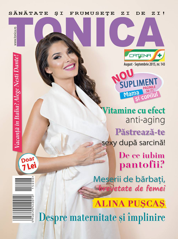 TONICA ~~ Coperta: Alina Puscas ~~ August-Septembrie 2015 ~~ Pret: 7 lei