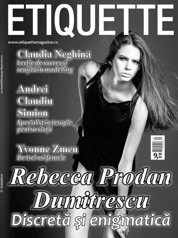 Etiquette Magazine ~~ Coperta: Rebecca Prodan Dumitrescu ~~ Septembrie 2015