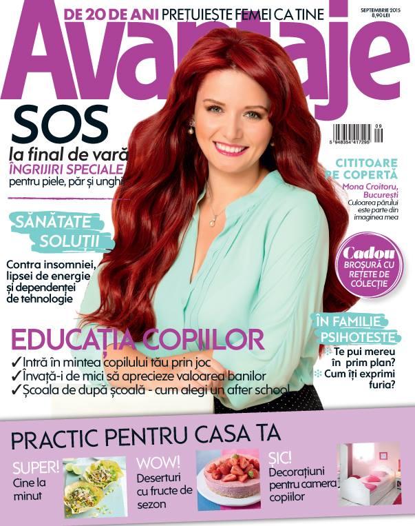 Revista Avantaje ~~ Coperta: Mona Croitoru ~~ Septembrie 2015