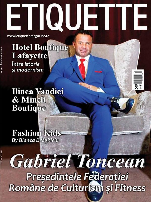 Etiquette Magazine Romania ~~ Coperta: Gabriel Toncean ~~ Octombrie 2015