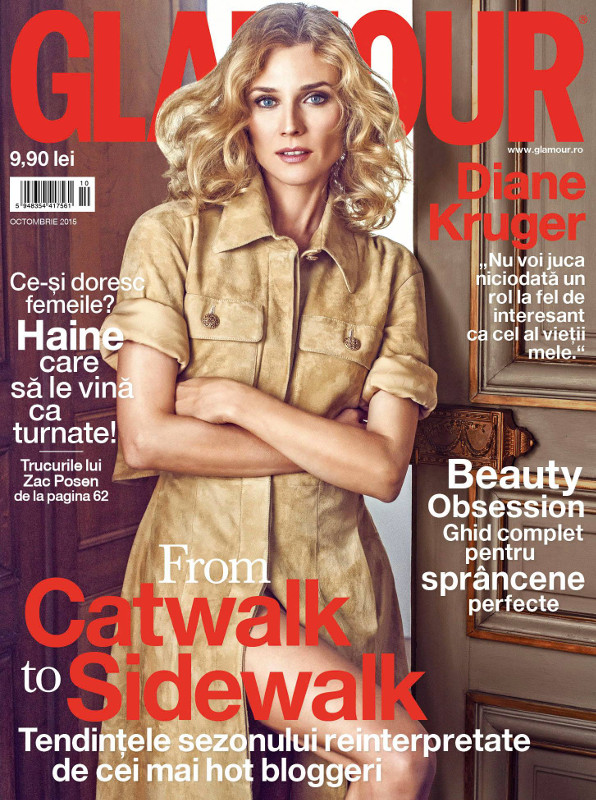 Glamour Romania ~~ Coperta: Diane Kruger ~~ Octombrie 2015