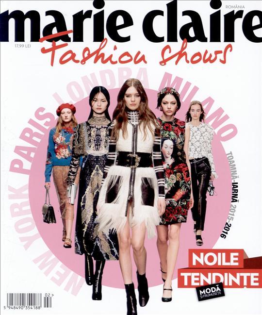 Marie Claire Fashion Shows ~~ Toamna-Iarna 2015 ~~ Pret: 18 lei