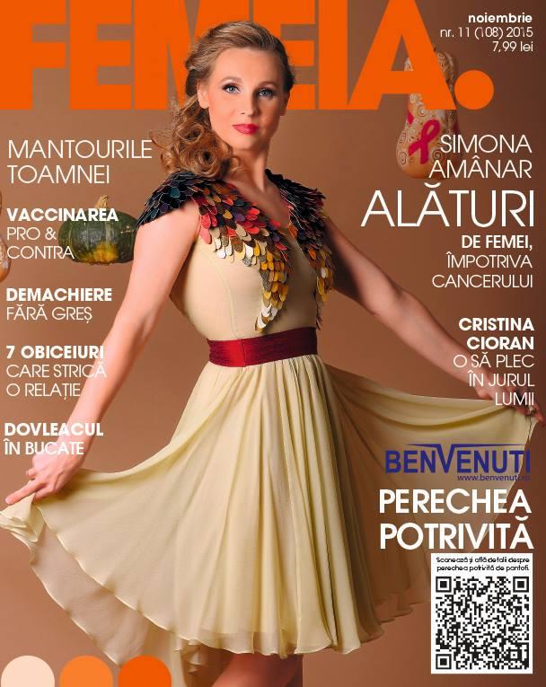 Revista FEMEIA. ~~ Coperta: Simona Amanar ~~ Noiembrie 2015