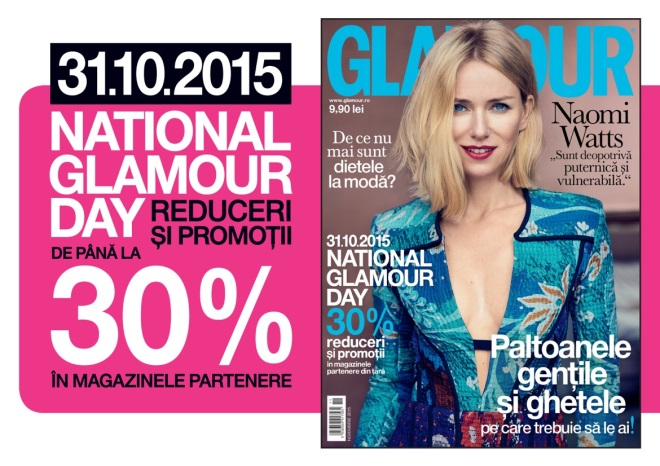 Eveniment Glamour: National Glamour Day ~~ 31 Octombrie 2015