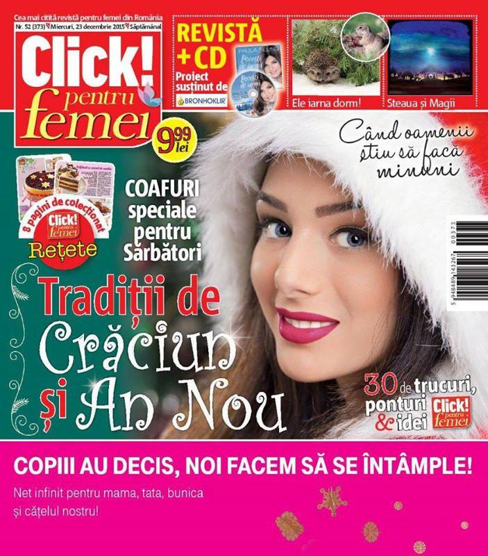 Click pentru femei ~~ Traditii de Craciun si Anul Nou ~~ Cadou: CD Paula Seling ~~ 23 Decembrie 2015 ~~ Pret: 10 lei