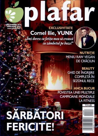 Revista PLAFAR ~~ Meniu raw vegan de Craciun ~~ Decembrie 2015 - Ianuarie 2016 ~~ Pret: 8 lei