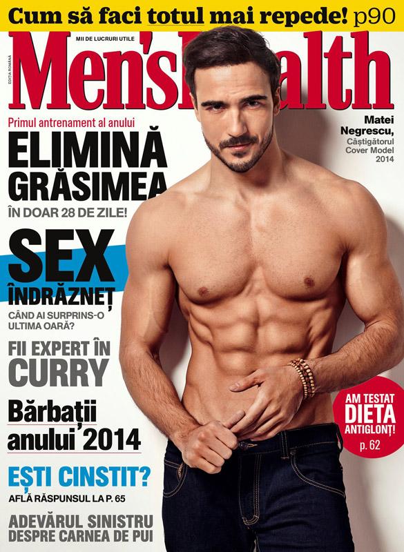 Men\'s Health Romania ~~ Coperta: Matei Negrescu ~~ Ianuarie-Februarie 2015 ~~ Pret: 11 lei