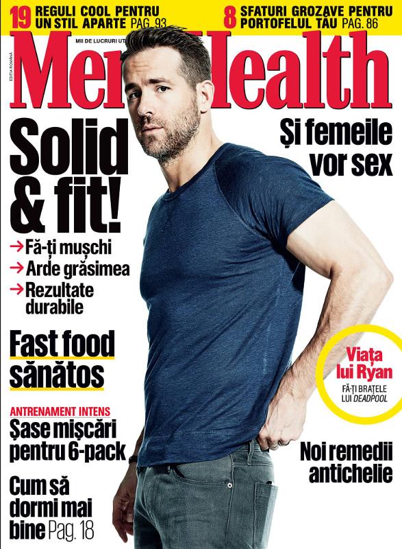 Mens Health Romania ~~ Coperta: Ryan Reynolds ~~ Aprilie 2016 ~~ Pret: 11 lei