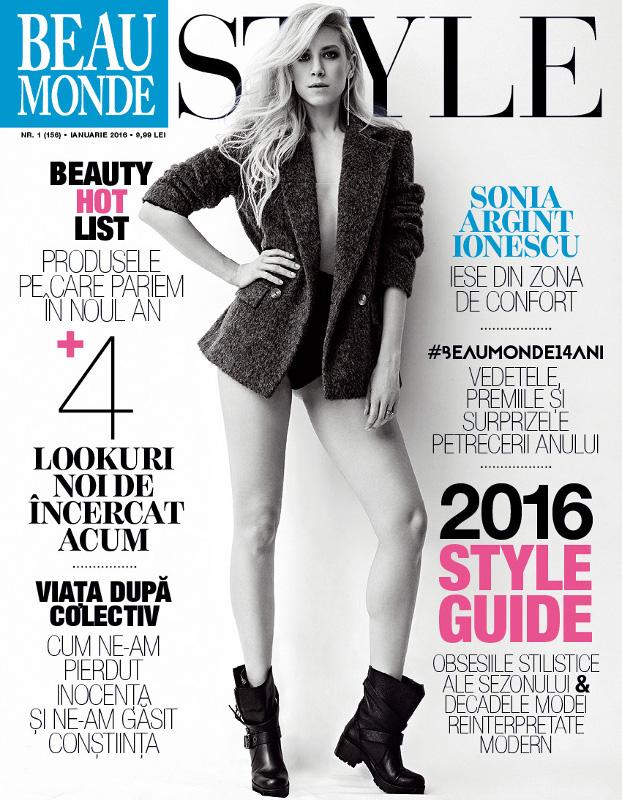 Beau Monde Style ~~ Coperta: Sonia Argint Ionescu ~~ Ianuarie 2016