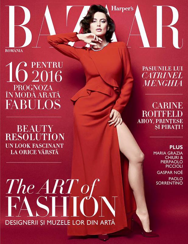 Harpers Bazaar Romania ~~ Coperta: Catrinel Menghia ~~ Ianuarie - Februarie 2016