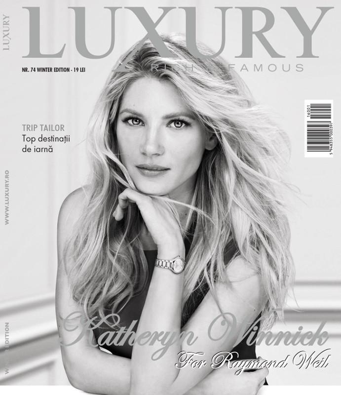 Luxury Magazine Romania ~~ Coperta: Katheryn Winnick  ~~ Iarna 2015-2016