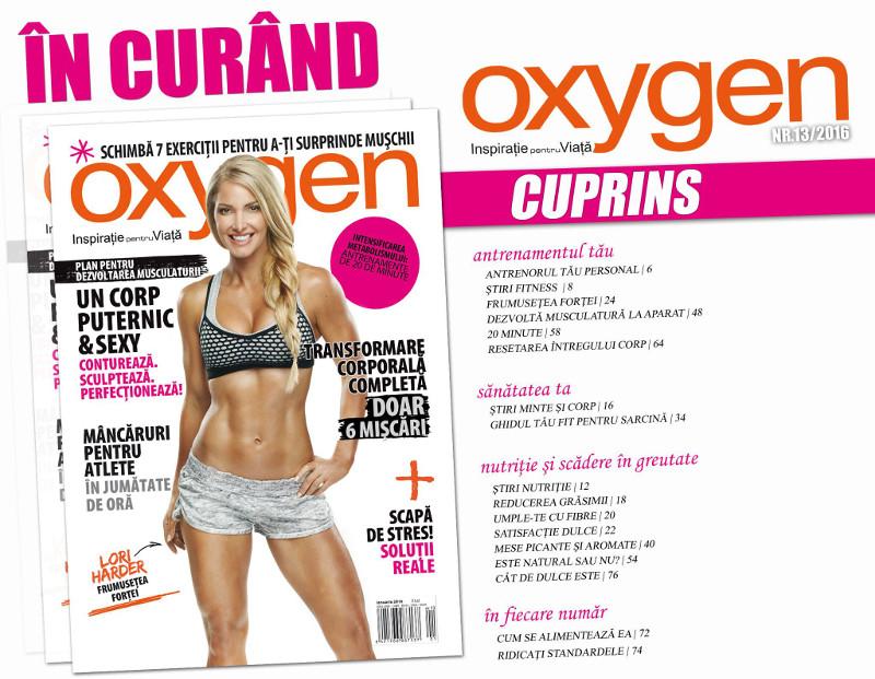 Oxygen Magazine Romania ~~ Coperta: Lori Harder ~~ Ianuarie-Februarie 2016