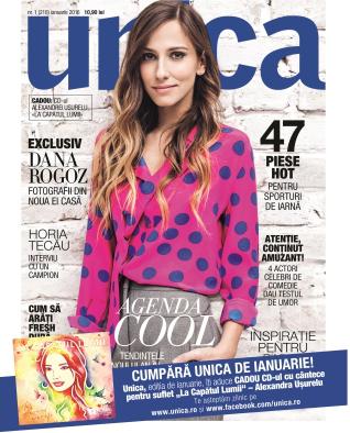 UNICA ~~ Coperta: Dana Rogoz ~~ Ianuarie 2016