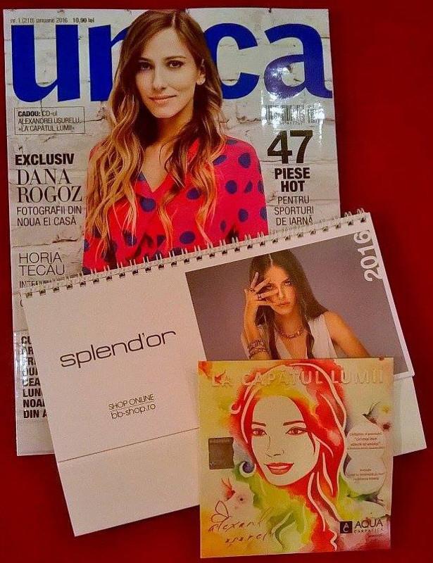 Inserturile editiei de Ianuarie 2016 a revistei UNICA ~~ Pret pachet: 11 lei